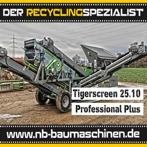 Flachdecksiebanlage - 3 Fraktionen Tiger Screen 25.10 Professional Plus